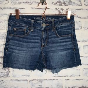 American eagle Blue Jean Shorts Size 2 shorties